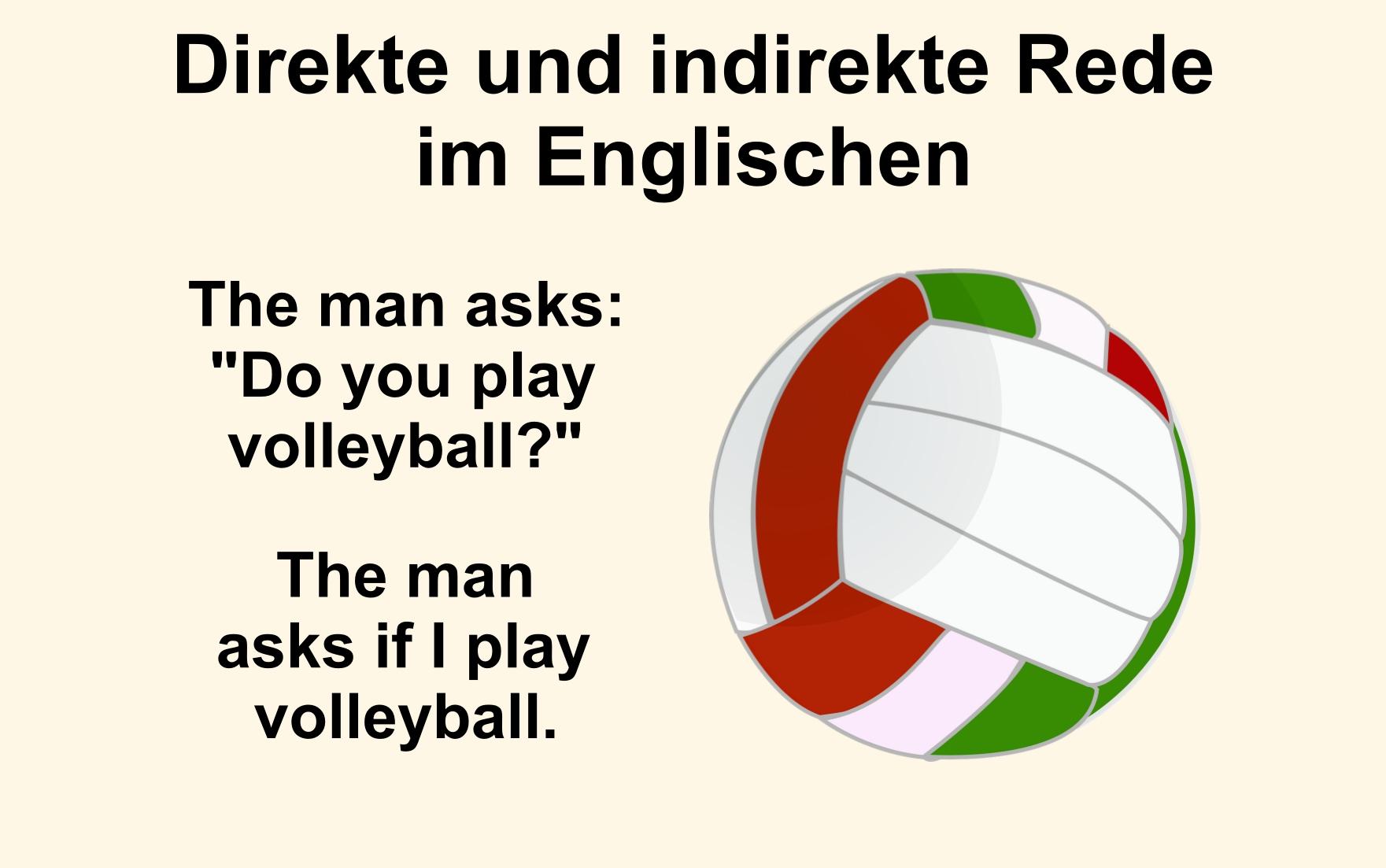 Direkte und Indirekte Rede im Englischen