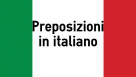 preposizioni italiane